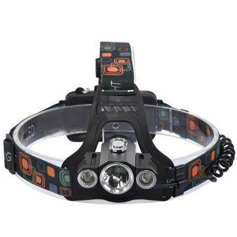 Harga High Power Headlight LED Headlamp Cree XML T6 Waterproof 10000 Lumens Light Rechargeable Head Lamps 4 Modes Zoomable