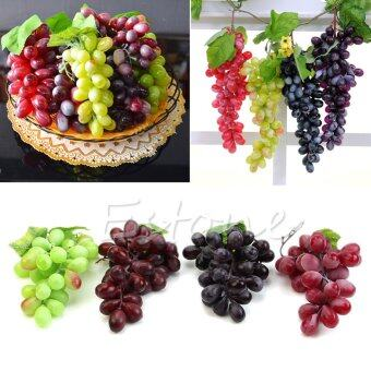Harga NEW Lifelike Artificial Grapes Plastic Fake Fruit Food Home Decor Decoration