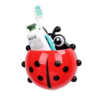 Harga Ladybird Toothbrush Toothpast Holder Suction Hooks 3 Pieces