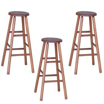 Harga HGF-ST-R700AO-3 High Bar Stool Antique Oak Set of 3