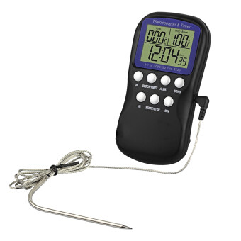 Harga Food Probe Oven Thermometer Kitchen Timer - Intl