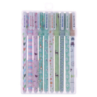 Harga 10PCS Cute Little Korean Stationery Watercolor Pen Gel Pens Set Color 2