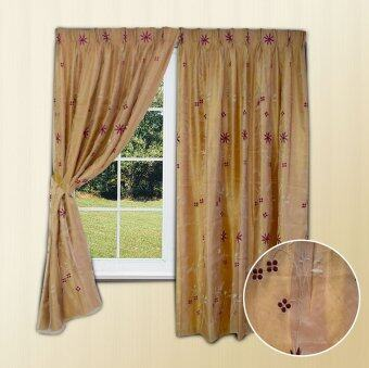 Harga Essina 2 Layer Curtain French Pleated - Waxflower