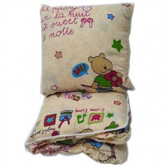 Harga Pillow Blanket -Little Music Bear