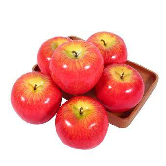 Harga 6pcs Artificial Red Apples Fruit Simulation Lifelike Kitchen Display Home Party Decoratiive