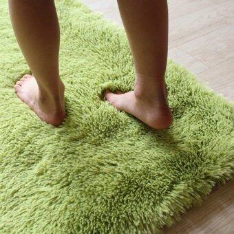 Harga Soft Anti-skid Carpet Flokati Shaggy Mat Rug For Living Dining Bedroom Floor (Grass green)
