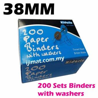 Harga Kidario Tinned Steel Premier Grip Binder / Paper Binder with Washers 38mm (200pcs/box) I JIMAT