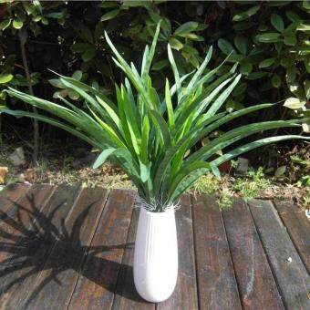 Harga New Green Artificial Orchid Leaves Cymbidium Grass Lifelike Plants Home Garden