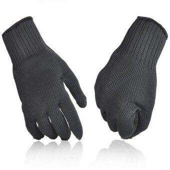 Harga Moonar Work Safty Free Size Stainless Steel Wire Safety Works Anti-Slash Cut Resistance Gloves