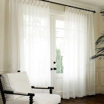 Harga Essina French Pleated Curtain Sheer 1 Layer Lacey White