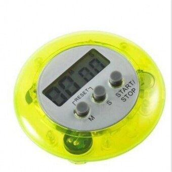 Harga Electronic Kitchen Timer Round Portable Food Baking Timer (Yellow)