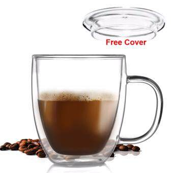 Harga 400ML Locaupin Borosilicate glass high temperature Mug Coffee glass Beer Glass tea cups