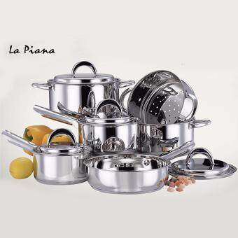 Harga 10pcs La Piana Stainless Steel Cookware (Rome)
