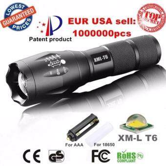 Harga E17 LED Flashlight 18650 zoom torch waterproof flashlights XM-L T6 3800LM 5 mode led Zoomable light For 3x AAA or 3.7v Battery