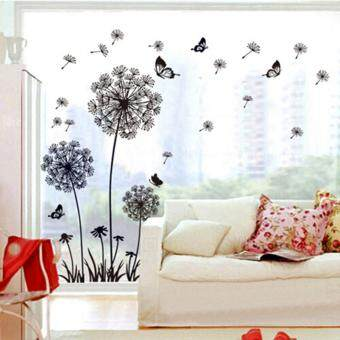 Harga Removable Flying Dandelion Nursery Bathroom Kitchen Bedroom Dining Room Living Room Mirror Office Dorm Home DIY Modern Art Wall Decor Stickers