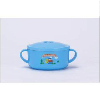 Harga JOY Cartoon Keep Warm Baby Portable Stainless Steel Deep Bowl (Blue)