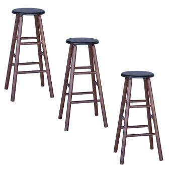 Harga HGF-ST-R700CP-3 High Bar Stool Cappuccino Set of 3