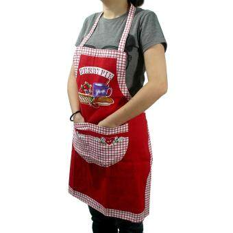 Harga Canvas Apron with Pocket - Red