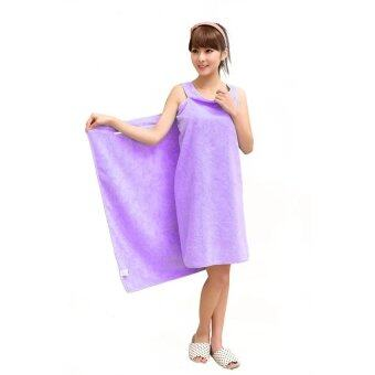 Harga Magic Multi Sexy Women Beach Bath Towel Travel Body Wrap Absorbent Microfiber Shower Bath Drying Terry Towel Magic Multi Sexy Women Beach Bath Towel Wearable Magic Towel (Purple)