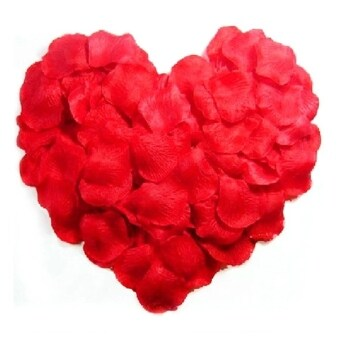 Harga 2000pcs Lifelike Artificial Silk Red Rose Petals Decorations for Wedding Party