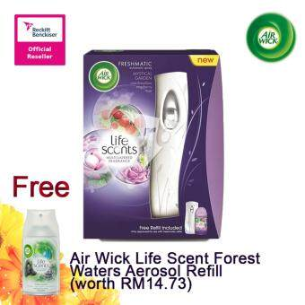 Harga Air Wick Life Scent Mystical Garden Starter 250ml FOC Air Wick Life Scent Forest Waters Aerosol Refill
