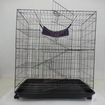 "Harga 9134# 3 Level Cat Cage Wrought Iron 36""L x 24""W x 52""H"