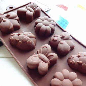 Harga 8-cavity Bugs and Flowers Silicone Mold | Chocolate Moulds | Jelly Molds | DIY Silicon Soap Molds