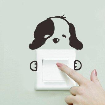 Harga Lovely Puppy Switch Wall Sticker Home Decor