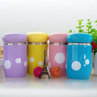 Harga 300ML Cute Mushroom Cup Stainless Steel Vacuum Insulation Cup Thermos Mug flask Insulation mug Tea Cup coffee cup Travel cups Water mug
