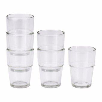 Harga REKO Glass, clear glass (set of 6 pieces)