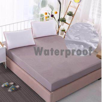 Harga Fully Fitted Waterproof Mattress Protector Filtted Sheet (Gray)