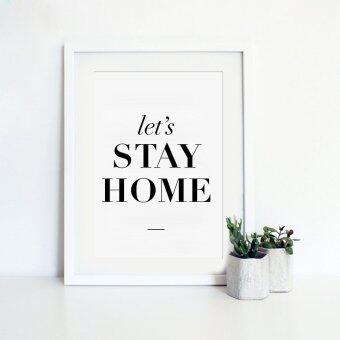 Harga Stay Home Quote Canvas Art Print Painting Poster, Wall Pictures for Home Decoration, Home Decor YE017