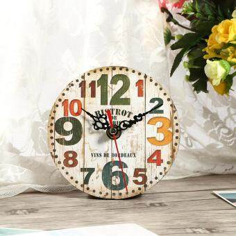 Harga Retro Creative Antique Wall Clock Vintage Style Wooden Round Clocks Home Office Decoration (#3)