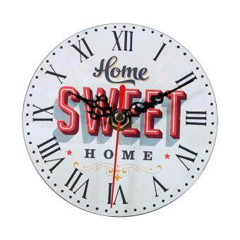 Harga Creative Wall Clock Vintage Style Wooden Round Clocks Home Decoration (#7)