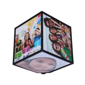Harga Revoling Multi Picture Photo Frames Cube Black Home Decor Family