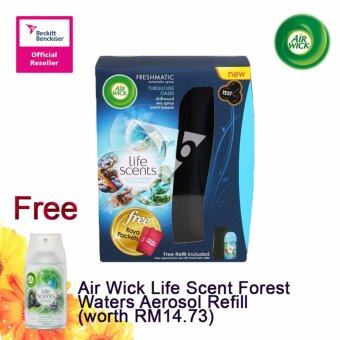 Harga Air Wick Life Scent Turquoise Oasis Starter 250ml FOC Air Wick Life Scent Forest Waters Aerosol Refill