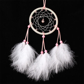Harga Dream Catcher Handmade Wind Chimes Circular Net Feather Wall Hanging Decoration Ornament Craft Gift (MS6040)