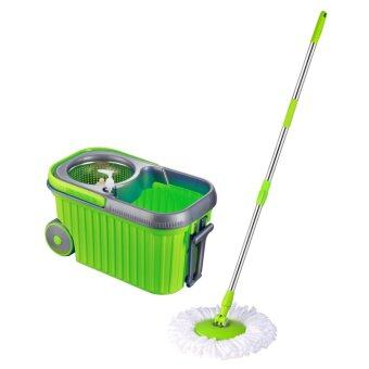 Harga Easy Mop with Stainless Steel Basket & Wheels