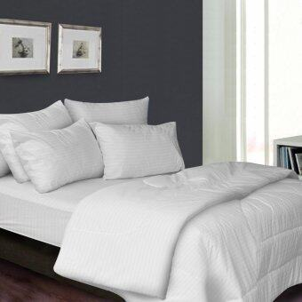 Harga Essina 100% Cotton 680TC Fitted Bed sheet set Colour Palette - WHITE COLLECTION