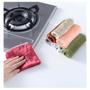 Harga 4pcs Highly Bamboo Fiber Kitchen Hand Towel In Stock Dish Cloth Rags Set 25*25cm