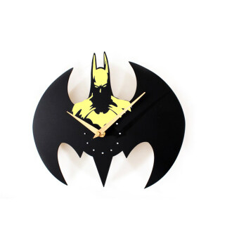 Harga Fashion Batman Wall Clock / Quartz Watch Clocks Batman Modeling (Yellow)