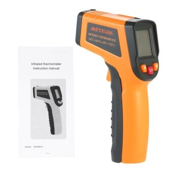 Harga Meterk -50~400�C 12:1 Portable Handheld Digital LCD Non-contact IR Infrared Thermometer Temperature Measurement Pyrometer with Backlight