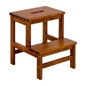 Harga HGF-SM-001AO Wooden Step Stool Chair/ stepladder Antique Oak 2 step
