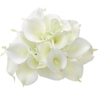Harga Sanwood 20 Pcs Artificial Latex Calla Lily Flower Beautiful Bouquet Home Wedding Bridal Decor
