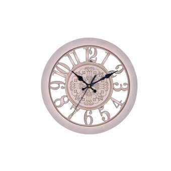 Harga Hollow European Wall Mounted Time Clock Home Decor Golden