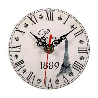 Harga Creative Antique Wall Clock Vintage Style Wooden Round Clocks Home Decoration (#6)