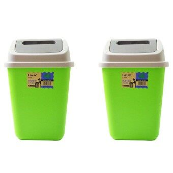 Harga GARBAGE DUSTBIN WITH SWING CAP (2 UNITS) - GREEN & GREEN