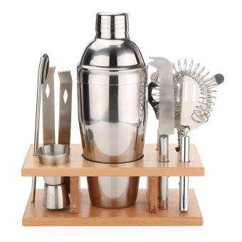 Harga Cocktail Sets Shakers Bar Mixer Stainless Steel Kit Drink Silver 8 pieces