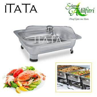 Harga ITATA 34*28*7cm Classic Buffet Food Full Glass Cover Design High Class Tray With Glass Cover & Stands