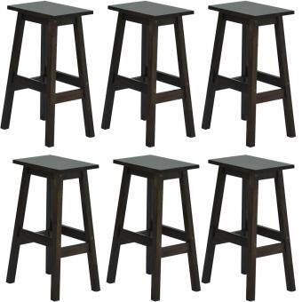 Harga HGF-ST-SQ600CP-6 High Bar Stool Cappuccino Set of 6
